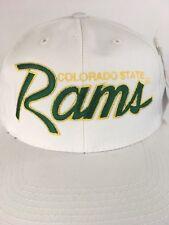 Vtg Colorado State Rams Script Sports Specialties Dead Stock Snapback Hat