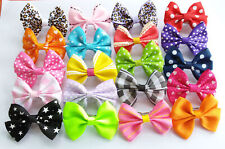 10 Cute Bowknot Little Gilrs Pet Cat Dog French Barrette Hair Bow Clip Accessory