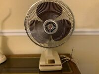 Sun-Rise SR-12 Oscillating Fan Vintage 1980s