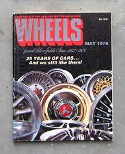 WHEELS May 1978 - DIESEL VW BEETLE AUDI 5E TOYOTA STARLET CITROEN 2CV FIAT 1100