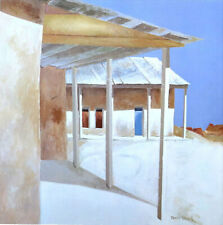 James HARRILL Chimayo Porch New Mexico 1986 Poster 27 x 27
