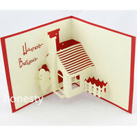 3D Luxury Handmade Pop Up Greeting Card Happy Birthday Beauty Cute Luck