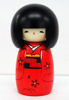Usaburo Kokeshi Japanese Wooden Doll 6-25 Osanago (Child in Red)