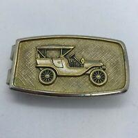Vintage Anson Money Clip Antique Car Gold Tone 1960s
