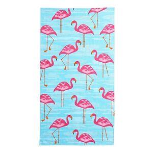 Flamingos Bath Beach Pool Towel 100% Cotton Super Soft Absorbent