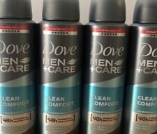 4 x Dove Men Care Clean Comfort Deodorant Spray Anti-Perspirant 150 ml 4 Bottles