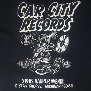 Car City Classic Record Store T-shirt Robert Crumb Logo St Clair Shores Michigan