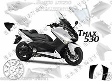 KIT CARENE SCOCCHE PLASTCHE YAMAHA TMAX T-MAX 530 2012>2014 BIANCO LUCIDO + NERO