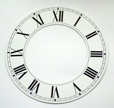 White clock CHAPTER RING roman nummerals dial new 178mm 97mm clocks dials