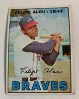 1967 Felipe Alou # 530 Atlanta Braves Topps Baseball Card