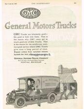 1920 GMC Delivery Truck Van W M Allison Wholesale Grocer art Vtg Print Ad