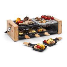 [OCCASION] Appareil à raclette pour 8 Grill de table 1200W Plancha pierre & plaq