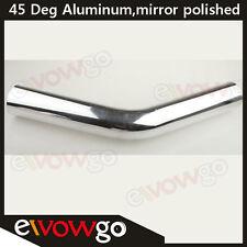 "3.5"" 89mm 45Deg Aluminum Turbo Intercooler Pipe Piping  Tube Tubing L=610mm"