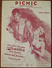 Picnic Vocal Edition, from the William Holden film with Kim Novak – Pub.1956