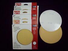 "6"" NH PSA Stick On Sanding Discs 150 Grit 15 Sheets Porter Cable"