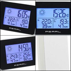 Thermomètre Station météo Horloge radiopilotée Capteur extérieur sans fil Neuf
