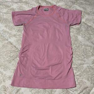 Athleta Speedlight Tee Soft Pink Workout Shirt Womens Sz S Stretch Short Sleeve