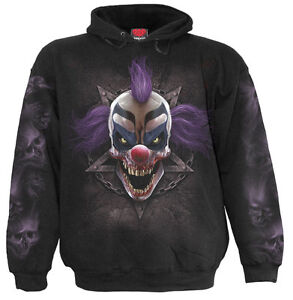 Spiral Direct MADCAP Hooded,Clown/DarkWear/Skull/Joker/Goth/Pullover/Hood/Hoodie