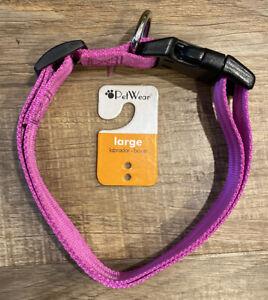 Brand New PetWear Large (Labrador•Boxer) Purple Dog Collar #45961