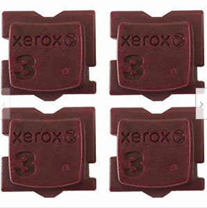 FREE SHIP Genuine Xerox 8570/8580- MAGENTA 4 Solid Ink Sticks Replaces 108R00947