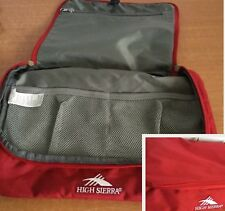 High Sierra Bag Pouch Toiletry Organizer Travel Handbag Red Full Zipper