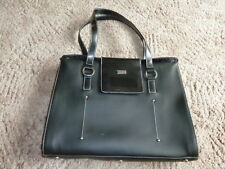 LEATHER  LOOK LAP TOP BAG