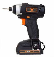 WEN 20V MAX Lithium-Ion 1/4-Inch Impact Driver w/ Battery, Bits, Charger and Bag