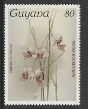 Guyana 6572 - 1985 Orchids  80c unlisted without surcharge unmounted mint