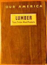 1944 Coca Cola Our America Lumber Booklet Teaching Aid