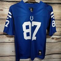 NIKE Indianapolis Colts Reggie Wayne Youth Size Large Jersey On Field Blue Fame