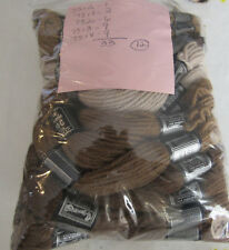 Vintage DMC Taperstry 100% Wool Brown Tan 33pc