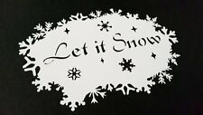 #M SNOWFLAKES with Text  LET IT SNOW Stencil Winter Xmas Party Decoration Paint
