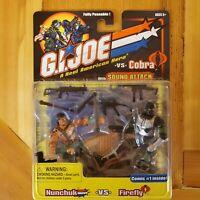 GI JOE vs COBRA Nunchuck vs Firefly! NIP! (Hasbro)
