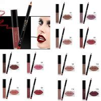 Waterproof Makeup Matte Lipstick Long Lasting  Lip Liquid Pencil Gloss Liner Set