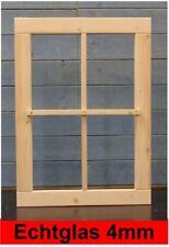 Gartenhausfenster feststehend Glas Sprossen Carportfenster Werkstatt Holzfenster