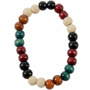 8mm Bracelet de Priere de piece Bracelet des Perles Bouddhiste Tibetain Bra W1F5