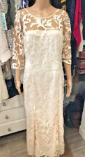 Lauren Ralph Lauren Evening Size 12 Cream/Nude Lace Overlay Formal Dress