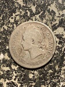 1937 Dominican Republic 25 Centavos Lot#Q6243 Silver!