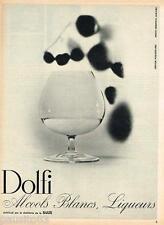 PUBLICITE ADVERTISING 105  1964  DOLFI  de SUZE   les alcools blancs CH. LEMAIRE