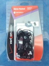 USB STEREO WIRED HEADSET EARPHONE MOTOROLA Razor Vc3 Verizon +2 EXTRA Covers!