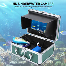 "7"" Screen 1200TVL Underwater Camera Fish Finder 24LEDS Night View 30m Waterproof"