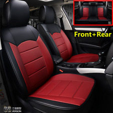 Luxury PU Leather Car Seat Cover Front+Rear Full Set For Interior Accessories