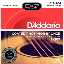 D'Addario EXP17 Acoustic Guitar Coated Phosphor Bronze Strings 13-56
