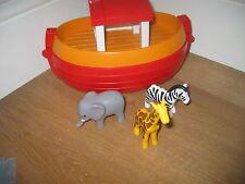 Playmobil 123 Ouvrir Noah Ark navire bateau playfigures Animaux Zèbre Éléphant Girafe