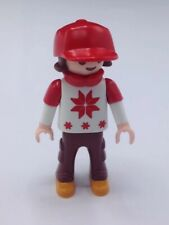 Playmobil Snowflake Sweater Hat Child Figure Red