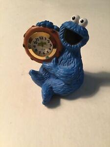 Vintage Cookie Monster Sesame Street Novelty Clock Quartz c Henson ???