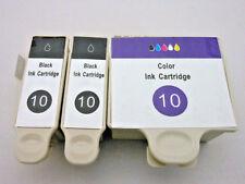 3PK Kodak 10 Black & Color Inkjet for ESP 9250 7250 5250 3250 5210 ESP 9 7 5 3
