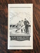 "Vintage Religious Brochure ""How Babe Ruth Was Punished"" Baseball 1930s"