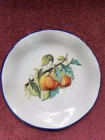 """9"""" 'PEACHES, LEAVES & BRANCHES' plate ~~ MADE IN ITALY ~~ FREE SHIPPING in USA!!"""