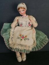 """Antique Hand Printed Vintage Detailed Doll Adorable 5""""1/2"""